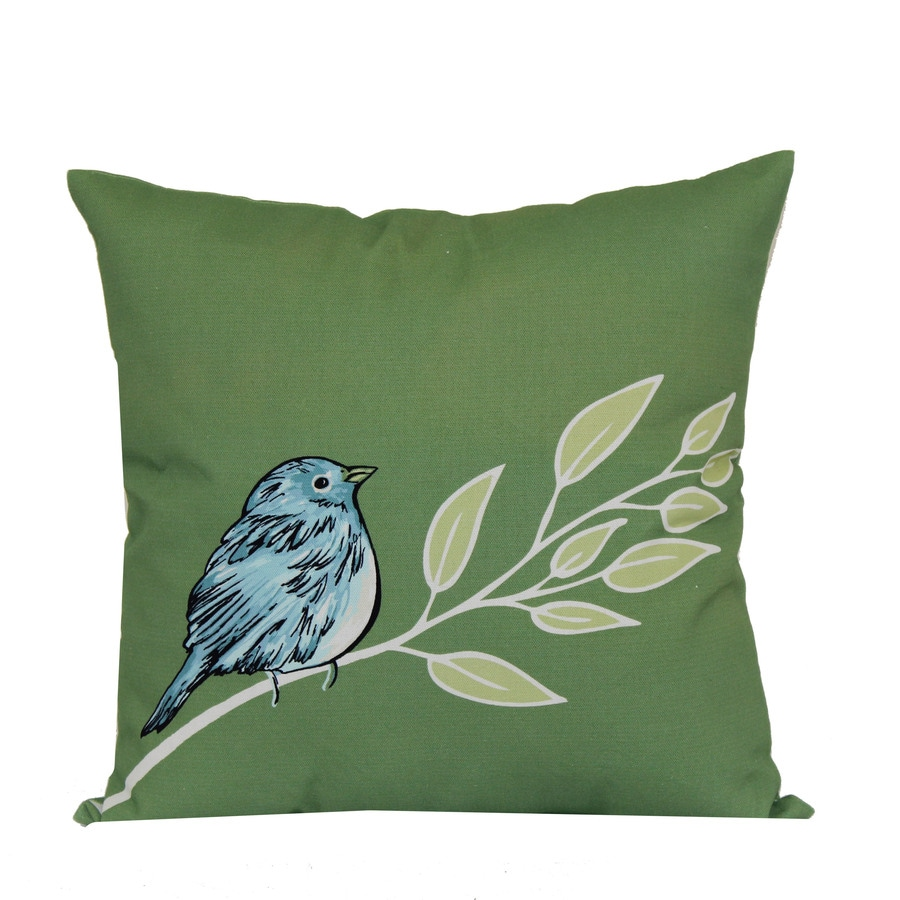 Garden Treasures Floral Square Throw Pillow Outdoor Decorative Pillow