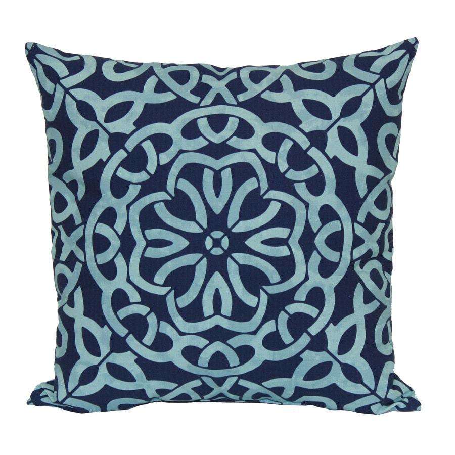 Garden Treasures Geometric Square Throw Pillow Outdoor Decorative Pillow