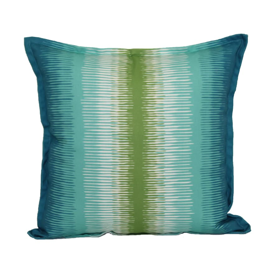 Blue Striped Decorative Pillows : Shop Garden Treasures Blue and Green Striped Square Throw Pillow Outdoor Decorative Pillow at ...