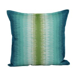 garden treasures blue and green striped square throw pillow outdoor decorative pillow