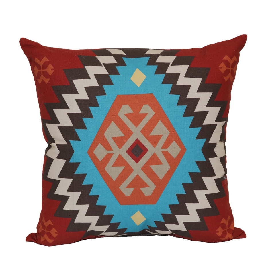Geometric Red Square Throw Pillow