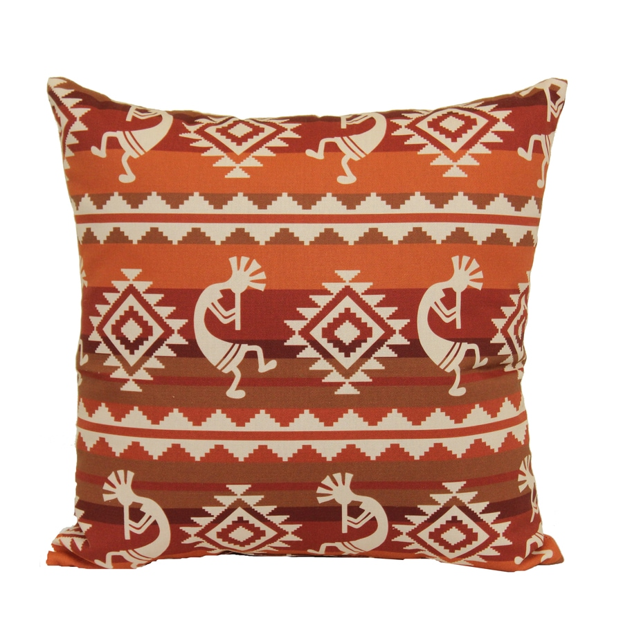 Decorative Pillow Covers Lowes : Shop Striped Red Square Throw Pillow at Lowes.com