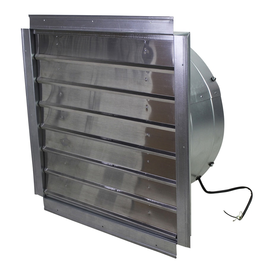 Shop maxxair 24 in through wall fan at for Bathroom exhaust fan lowes