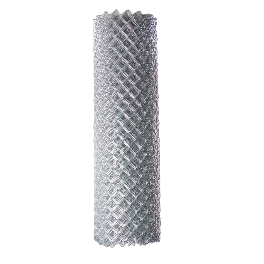 Galvanized Steel Chain-Link Fence Fabric (Common: 50-ft x 10-ft; Actual: 50-ft x 10-ft)