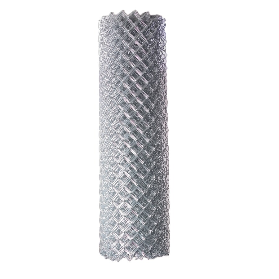 Galvanized Steel Chain-Link Fence Fabric (Common: 50-ft x 5-ft; Actual: 50-ft x 5-ft)