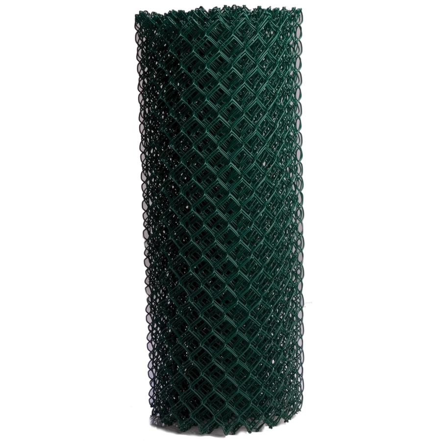 Vinyl Coated Steel Chain-Link Fence Fabric (Common: 50-ft x 5-ft; Actual: 50-ft x 5-ft)