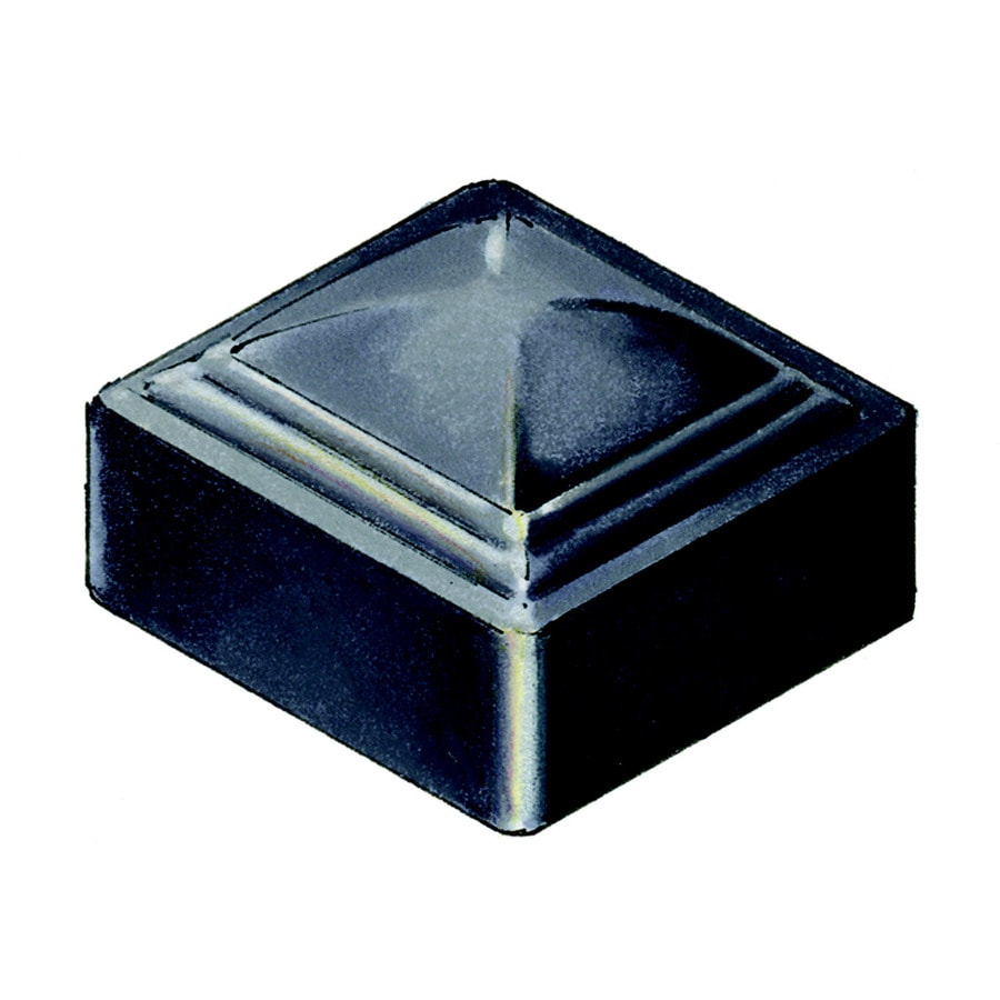 Shop Black Steel Decorative Metal Fence Post Cap at Lowes.com
