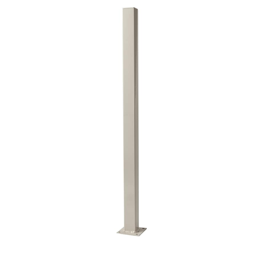 Navajo White Steel Decorative Metal Fence Universal Post (Common: 2-in x 2-in x 3-ft; Actual: 2-in x 2-in x 3-ft)