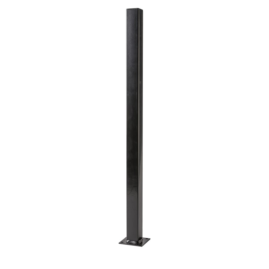 (Common: 2-in x 2-in x 3-ft; Actual: 2-in x 2-in x 3-ft) Black Steel Universal Post