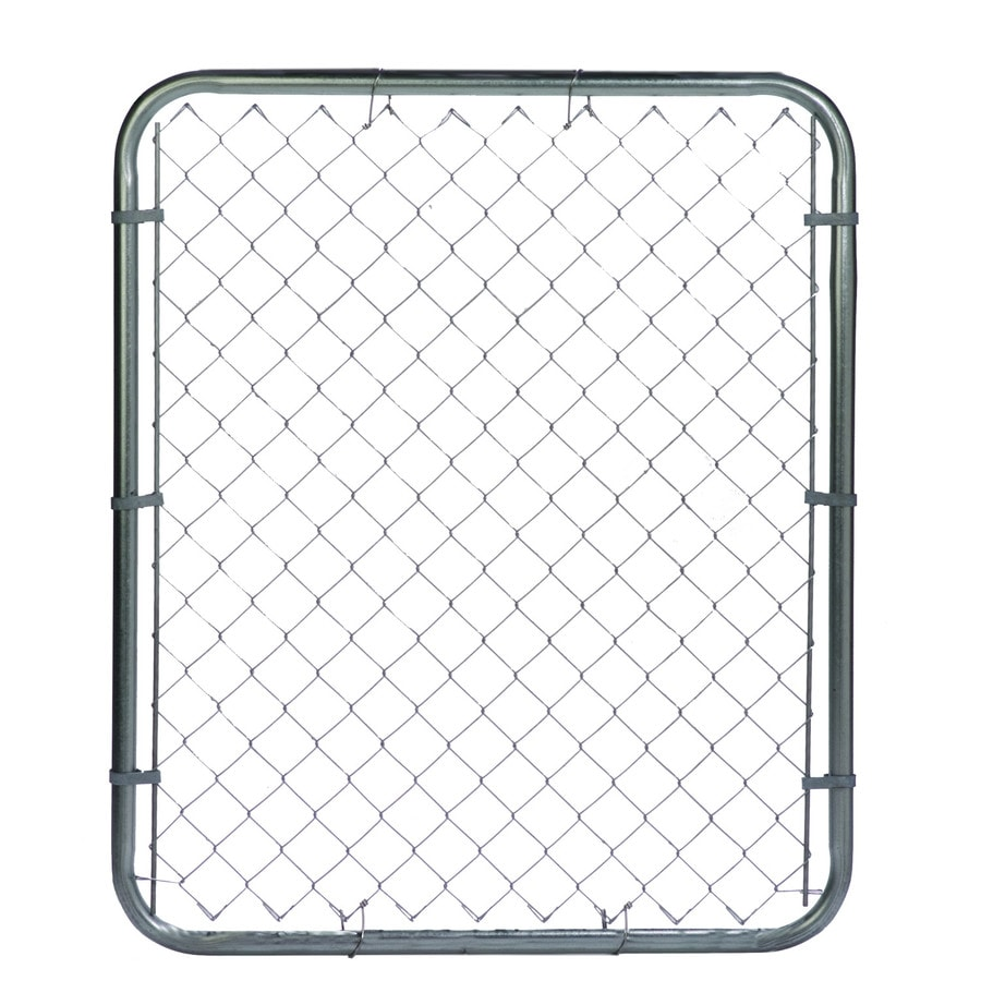 Galvanized Steel Chain-Link Fence Walk-Thru Gate (Common: 4-ft x 3.5-ft; Actual: 3.75-ft x 3.2-ft)