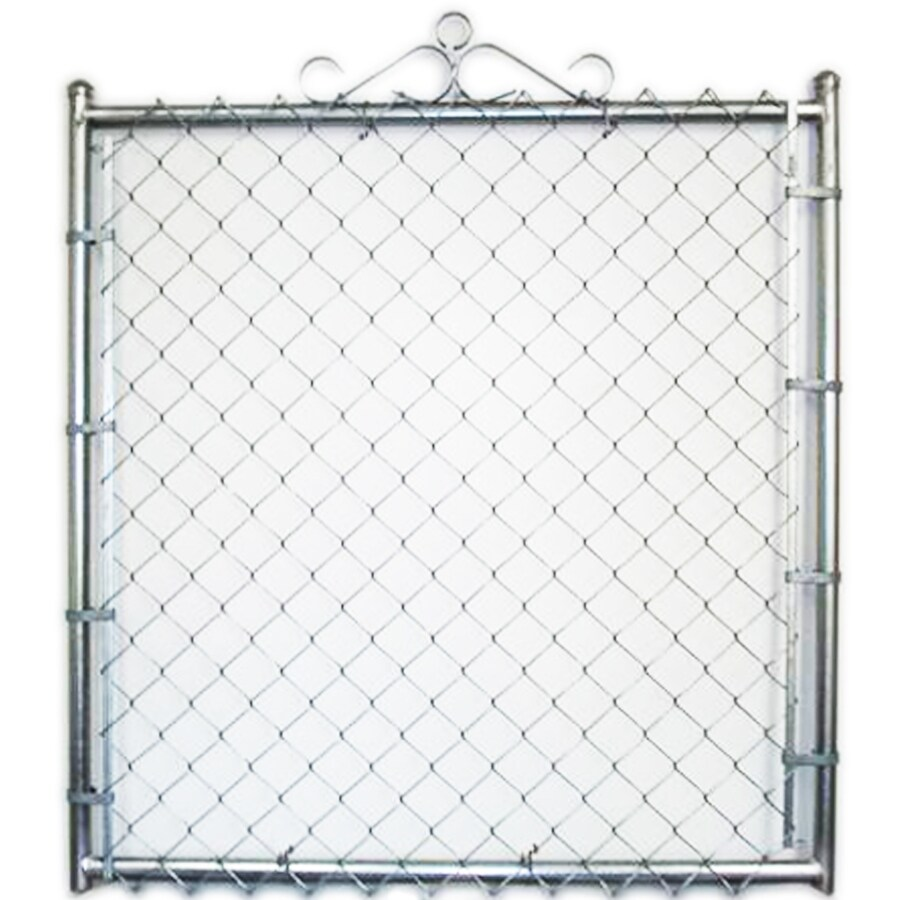 (Common: 4-ft x 3.5-ft; Actual: 4-ft x 3.16-ft) Galvanized Steel Chain-Link Fence Walk-Thru Gate