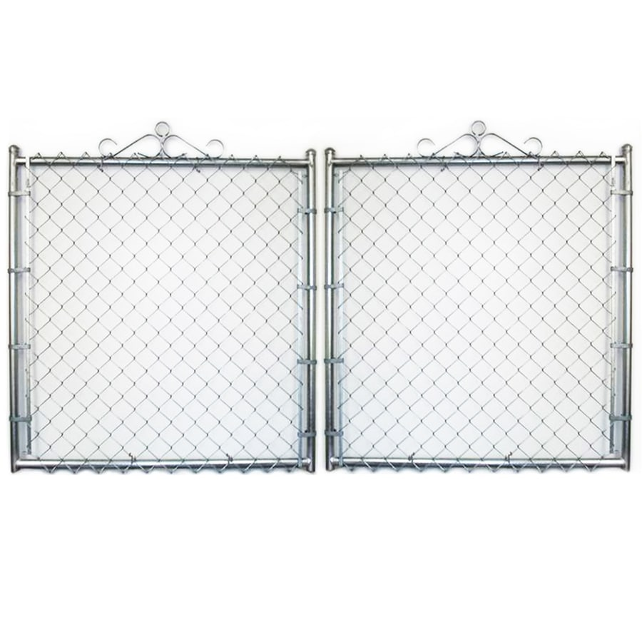 (Common: 4-ft x 10-ft; Actual: 4-ft x 9.5-ft) Galvanized Steel Chain-Link Fence Gate