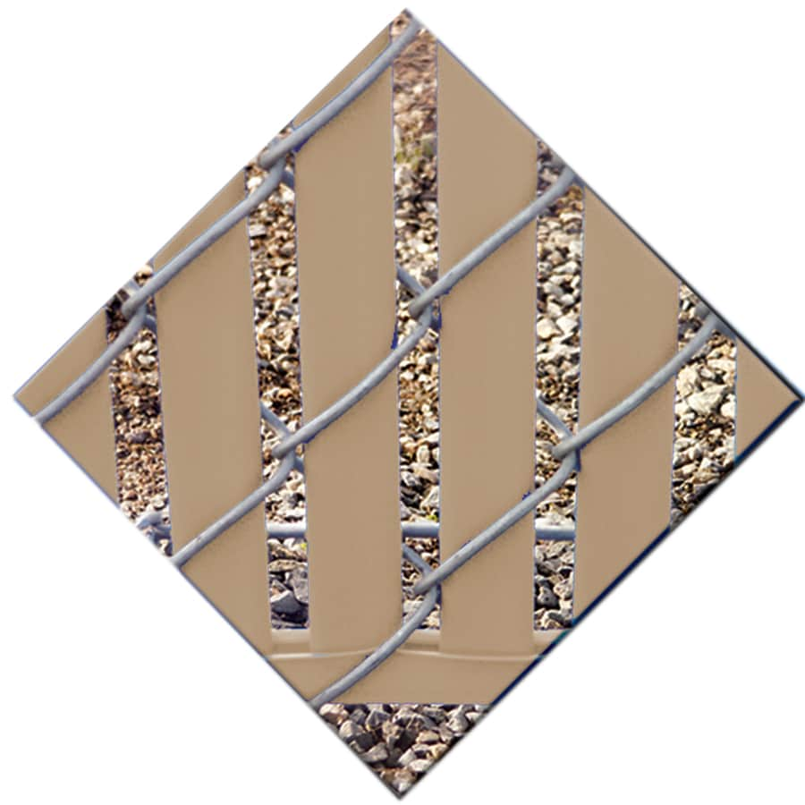82-Pack Beige Chain-Link Fence Privacy Slats (Fits Common Fence Height: 7-ft; Actual: 0.1-ft x 6.71-ft)