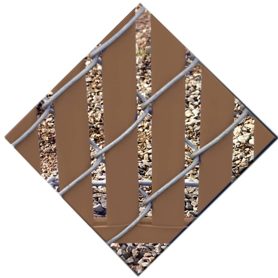 82-Pack Brown Chain-Link Fence Privacy Slats (Fits Common Fence Height: 7-ft; Actual: 0.09-ft x 6.71-ft)