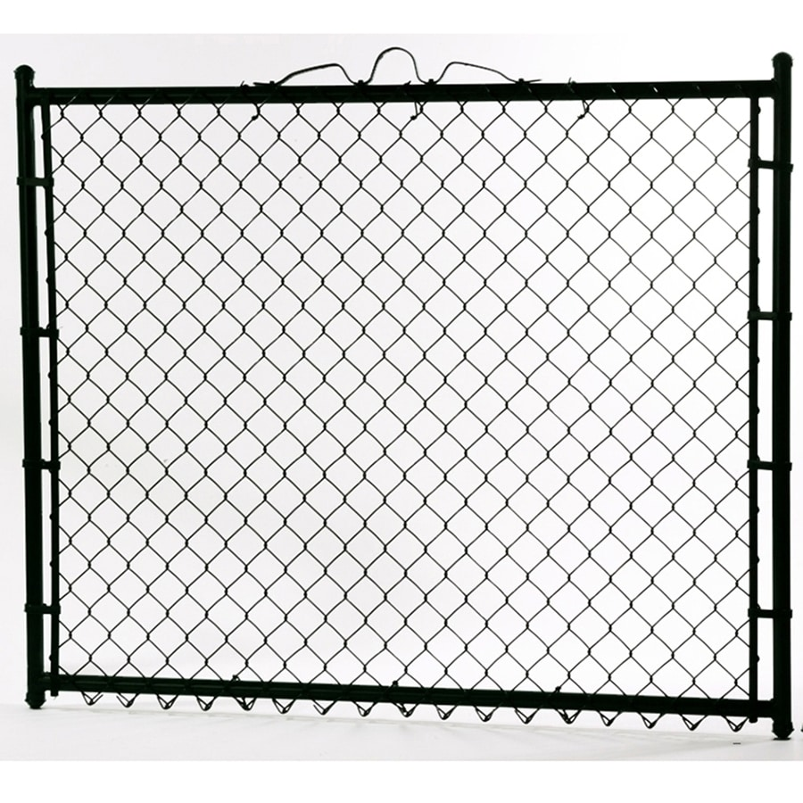 Black Galvanized Steel Chain-Link Walk Gate (Fits Opening 48; Actual: 44-in x 48-in)