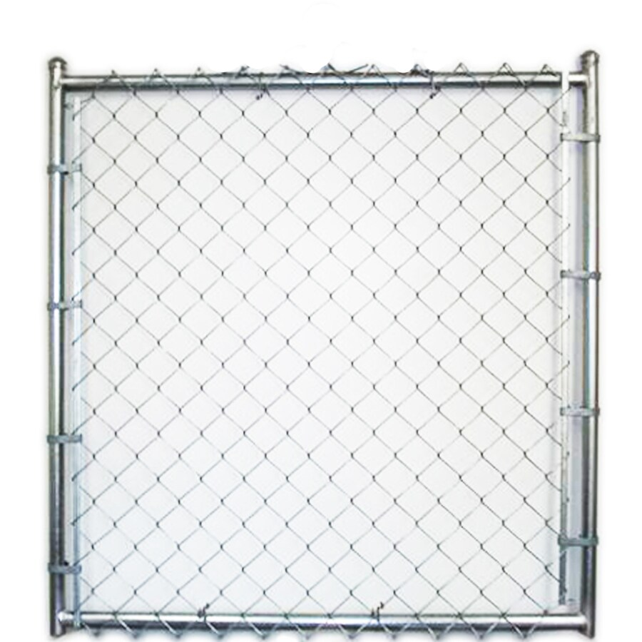 Galvanized Steel Chain-Link Fence Walk-Thru Gate (Common: 8-ft x 4-ft; Actual: 8-ft x 3.66-ft)