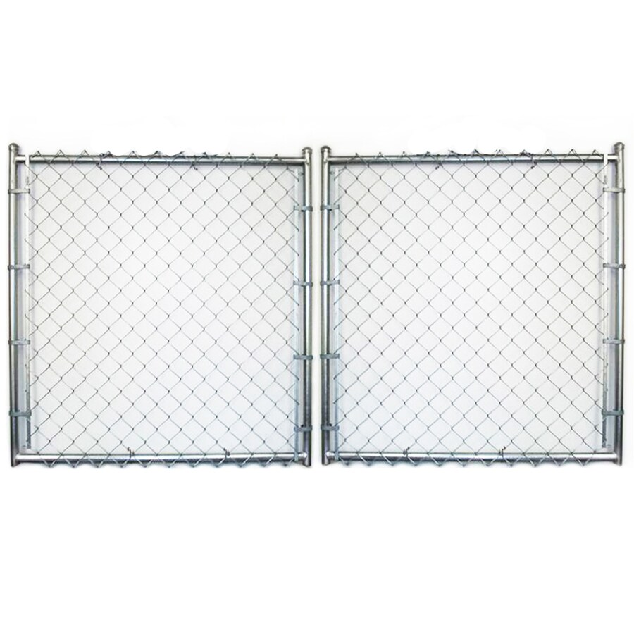 (Common: 7-ft x 12-ft; Actual: 7-ft x 11.5-ft) Galvanized Steel Chain-Link Fence Gate
