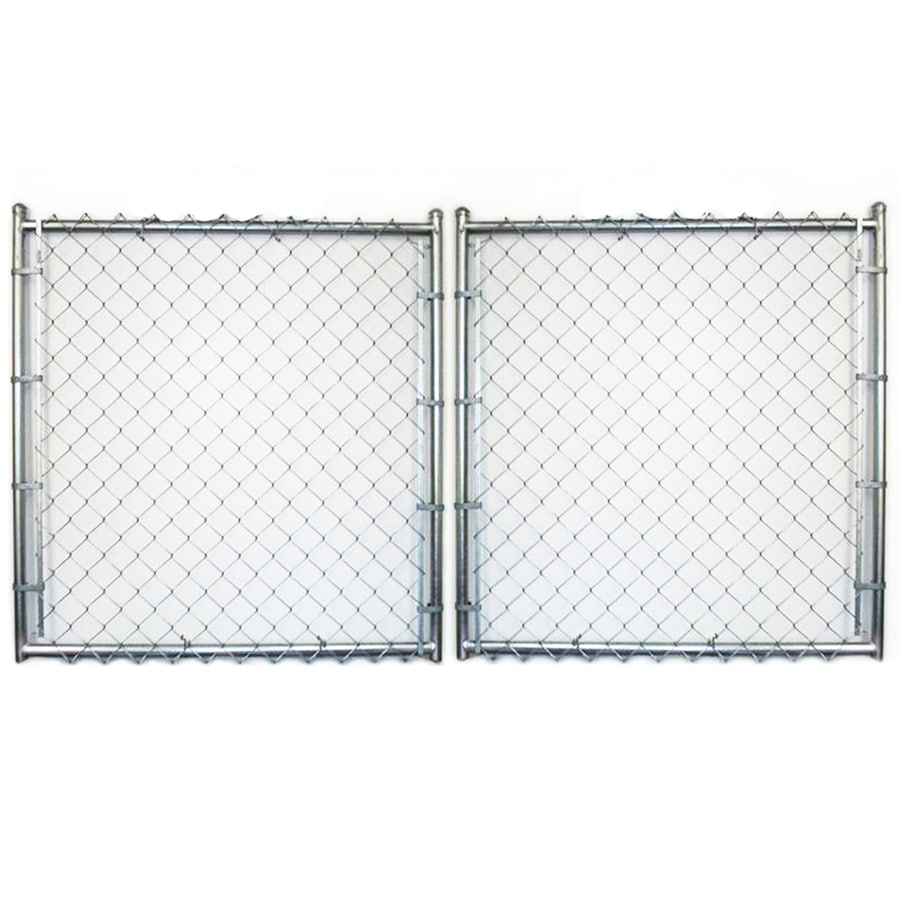 (Common: 9-ft x 12-ft; Actual: 9-ft x 11.5-ft) Galvanized Steel Chain-Link Fence Gate