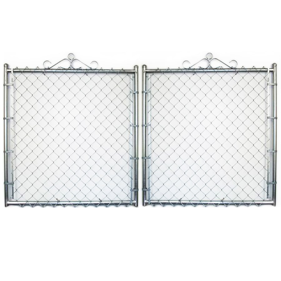 (Common: 7-ft x 16-ft; Actual: 7-ft x 15.5-ft) Galvanized Steel Chain-Link Fence Gate