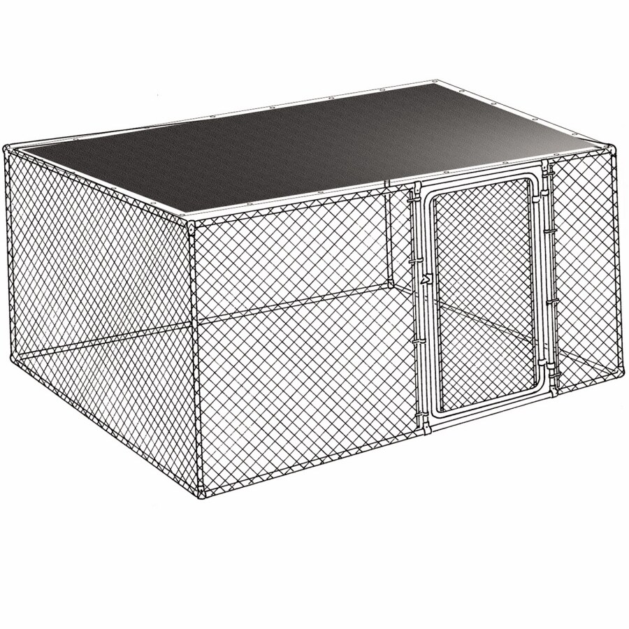 8-ft L x 6-ft W Plastic Kennel Cover