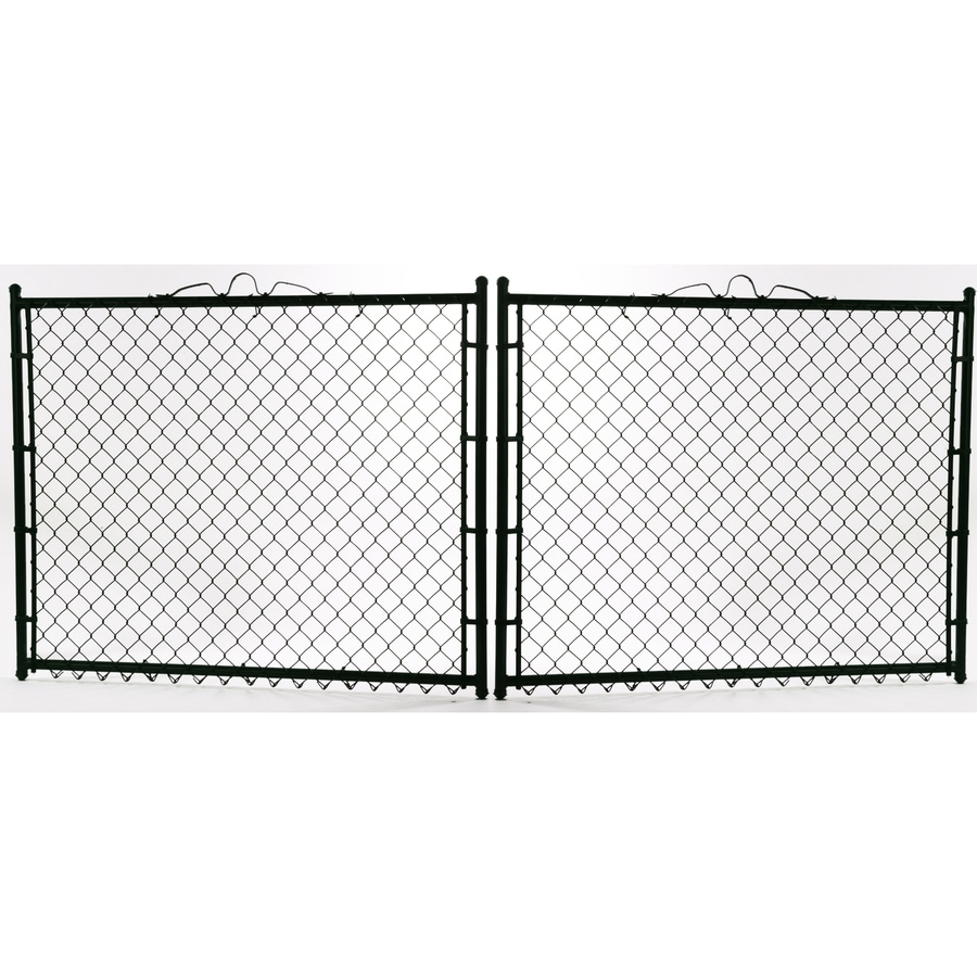 Vinyl Coated Steel Chain-Link Fence Gate (Common: 6-ft x 12-ft; Actual: 6-ft x 11.5-ft)