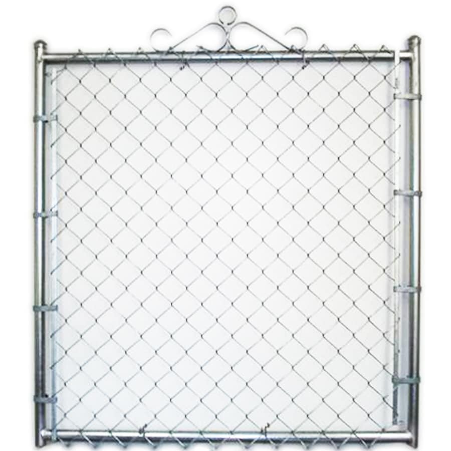 (Common: 6-ft x 4-ft; Actual: 6-ft x 3.66-ft) Galvanized Steel Chain-Link Fence Walk-Thru Gate