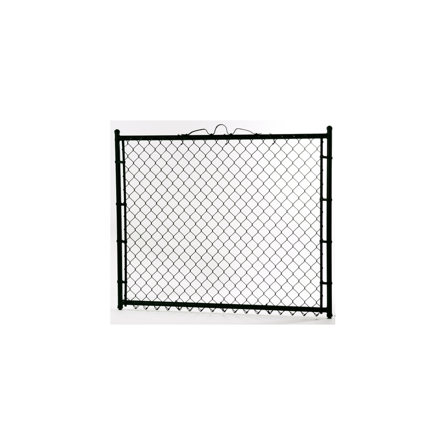 (Common: 3.5-ft x 4-ft; Actual: 3.5-ft x 3.66-ft) Vinyl Coated Steel Chain-Link Fence Walk-Thru Gate