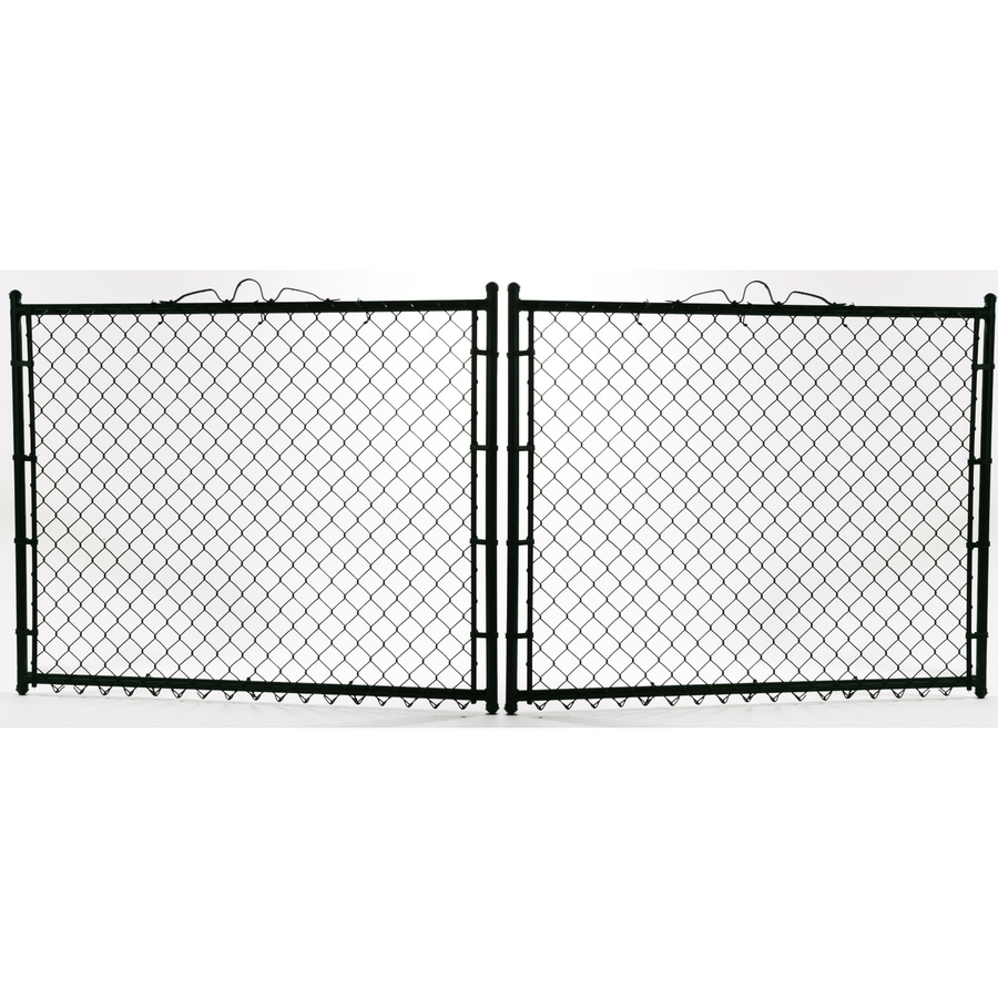 (Common: 3-ft x 10-ft; Actual: 3-ft x 9.5-ft) Vinyl Coated Steel Chain-Link Fence Gate