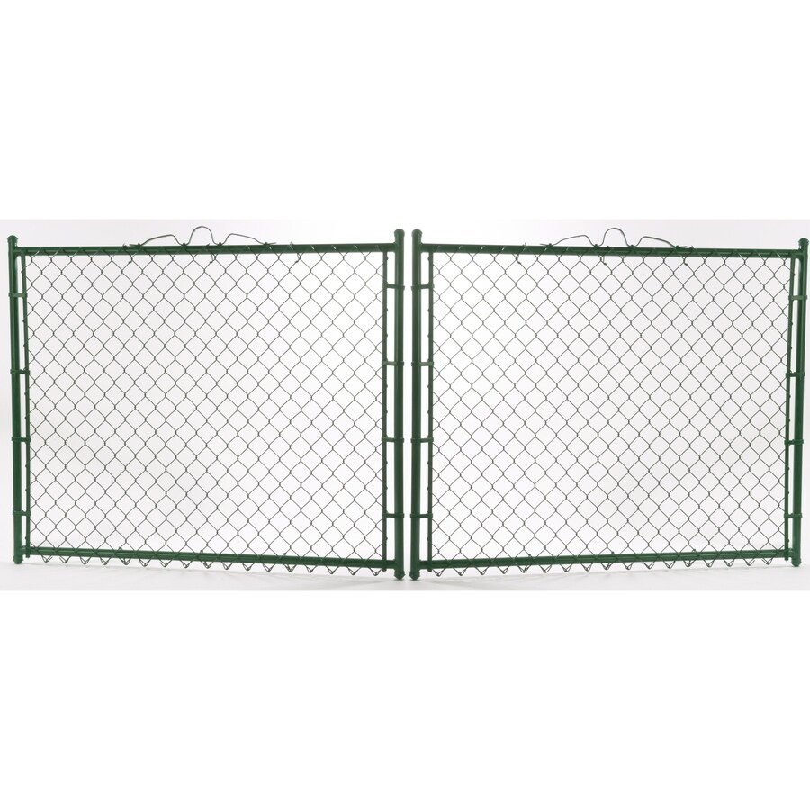 Vinyl Coated Steel Chain-Link Fence Gate (Common: 3.5-ft x 10-ft; Actual: 3.5-ft x 9.5-ft)