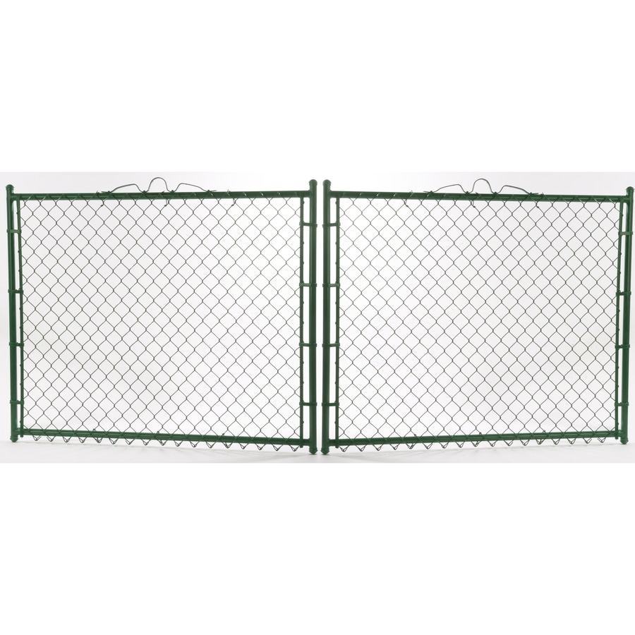 (Common: 3.5-ft x 10-ft; Actual: 3.5-ft x 9.5-ft) Vinyl Coated Steel Chain-Link Fence Gate