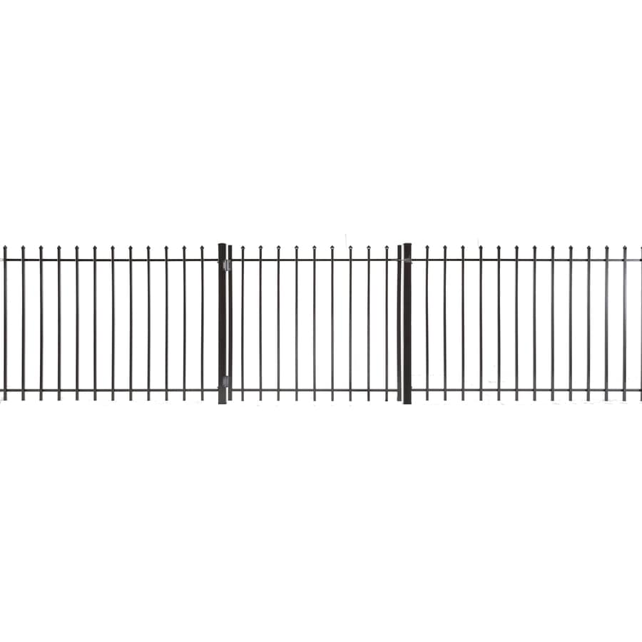 (Common: 4-ft x 4-ft; Actual: 3.83-ft x 3.66-ft) Lafayette Powder Coated Steel Decorative Fence Gate