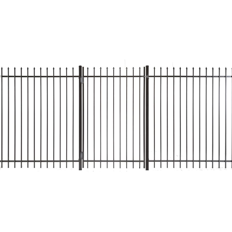 (Common: 6-ft x 4-ft; Actual: 5.83-ft x 3.66-ft) Lafayette Powder Coated Steel Decorative Fence Gate