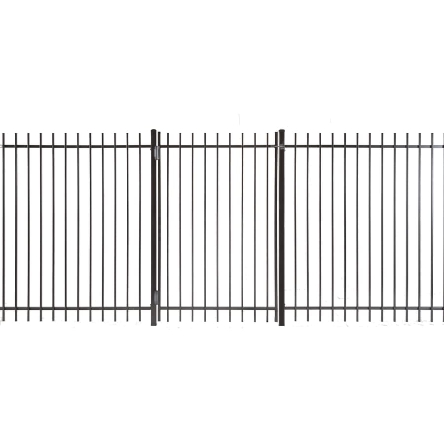 (Common: 6-ft x 4-ft; Actual: 5.83-ft x 3.66-ft) Kent Powder Coated Steel Decorative Fence Gate