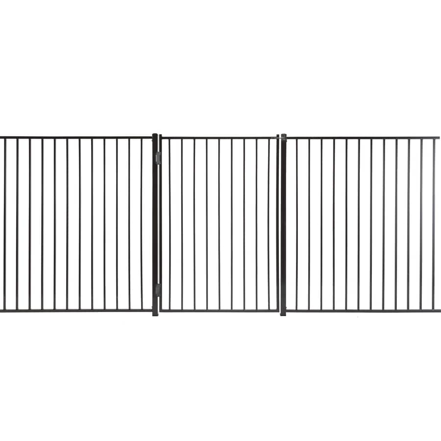 (Common: 6-ft x 4-ft; Actual: 5.66-ft x 3.66-ft) Monroe Powder Coated Steel Decorative Fence Gate