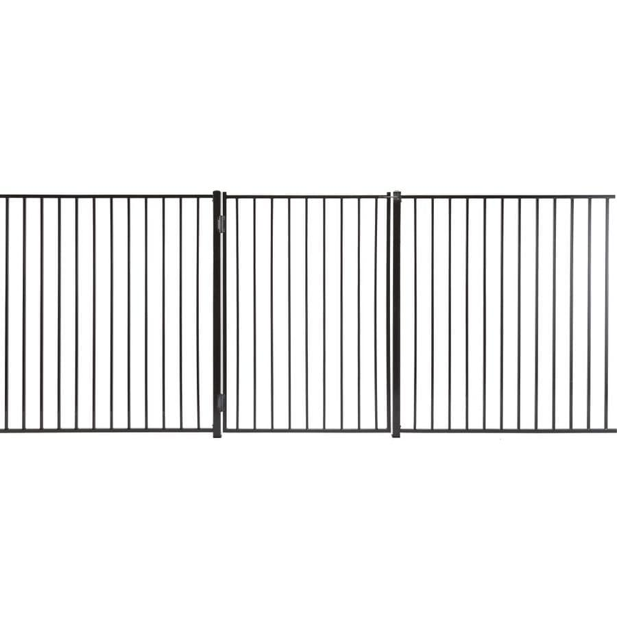 (Common: 5-ft x 3-ft; Actual: 4.83-ft x 2.66-ft) Monroe Powder Coated Steel Decorative Fence Gate