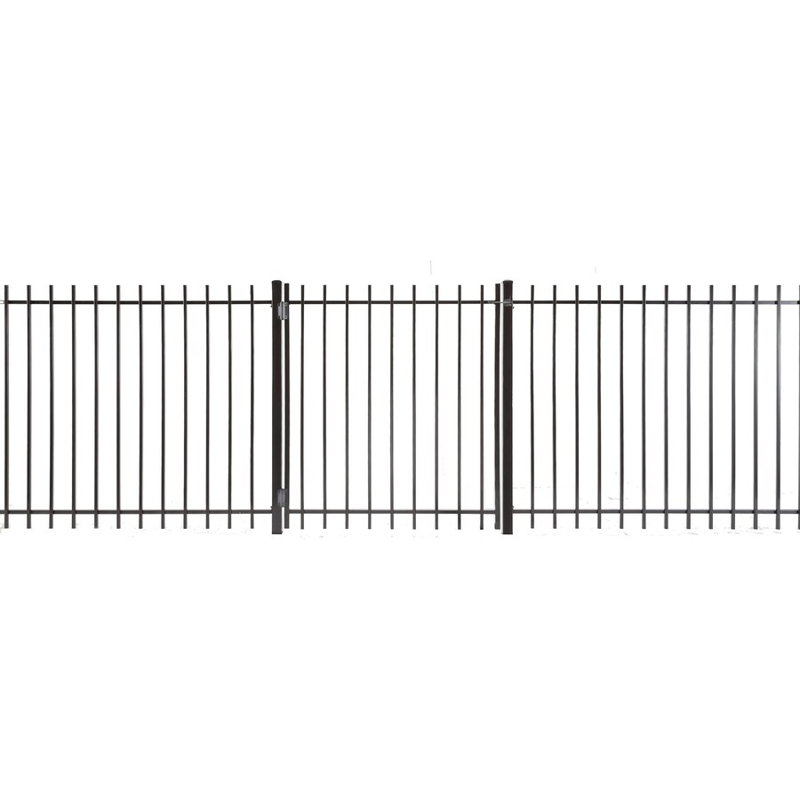 (Common: 4-ft x 3.5-ft; Actual: 3.83-ft x 3.16-ft) Kent Powder Coated Steel Decorative Fence Gate