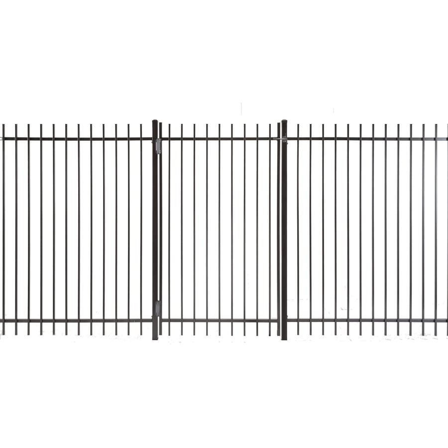 (Common: 6-ft x 3.5-ft; Actual: 5.83-ft x 3.16-ft) Kent Powder Coated Steel Decorative Fence Gate