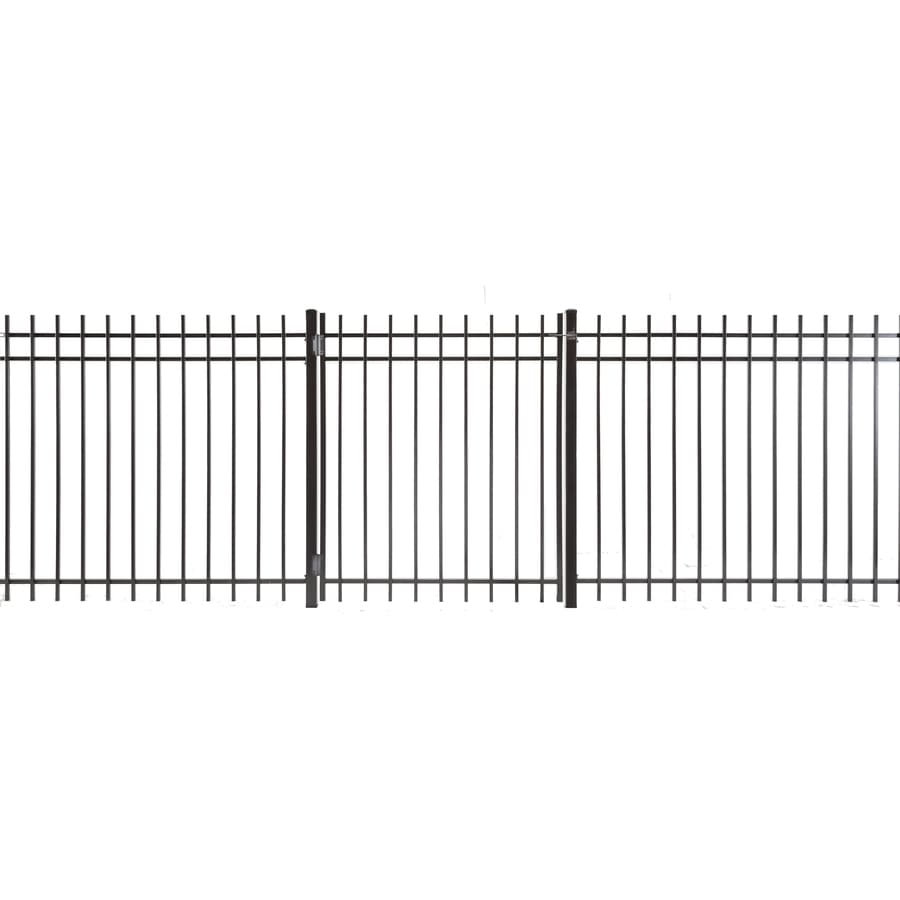 (Common: 5-ft x 4-ft; Actual: 4.83-ft x 3.66-ft) Kent Powder Coated Steel Decorative Fence Gate