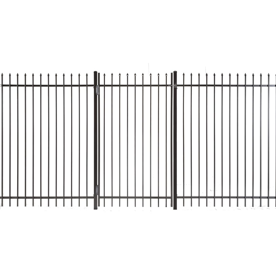 Lafayette Powder Coated Steel Decorative Fence Gate (Common: 6-ft x 3.5-ft; Actual: 5.83-ft x 3.16-ft)