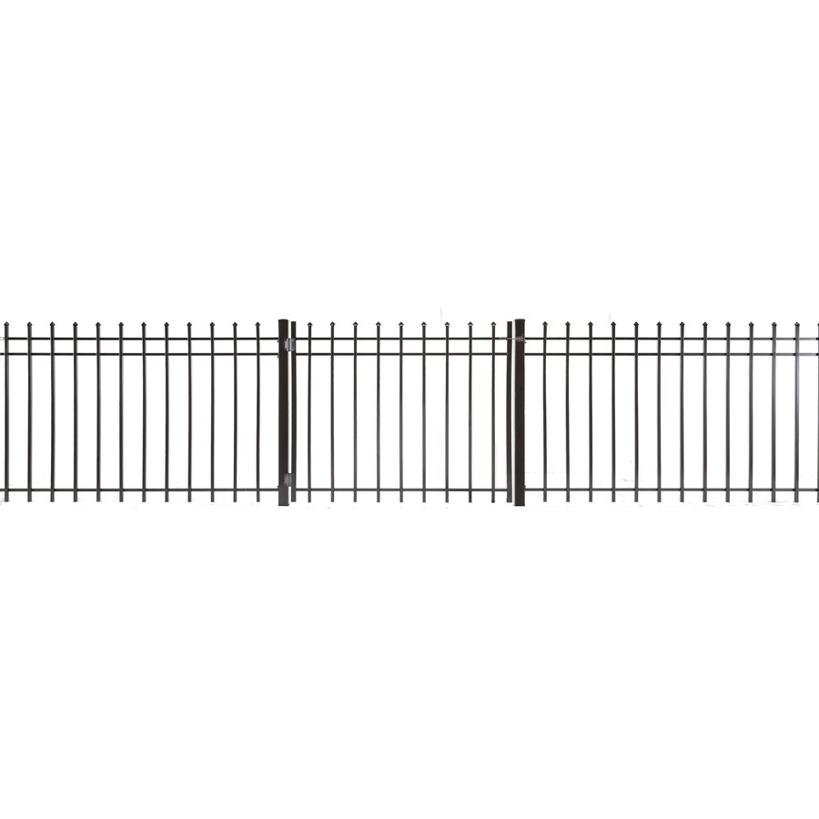 (Common: 3-ft x 3.5-ft; Actual: 2.83-ft x 3.16-ft) Lafayette Powder Coated Steel Decorative Fence Gate