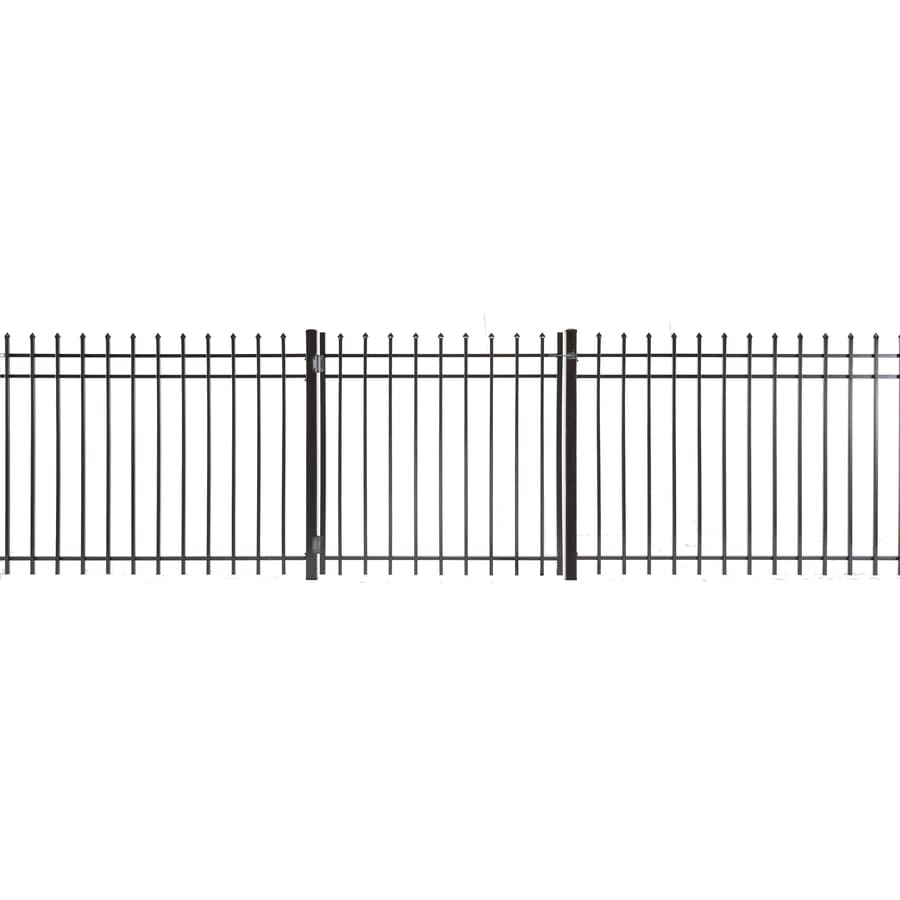 (Common: 4-ft x 3.5-ft; Actual: 3.83-ft x 3.16-ft) Lafayette Powder Coated Steel Decorative Fence Gate