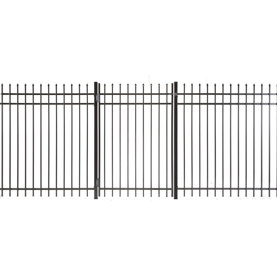 (Common: 5-ft x 3-ft; Actual: 4.83-ft x 2.66-ft) Lafayette Powder Coated Steel Decorative Fence Gate