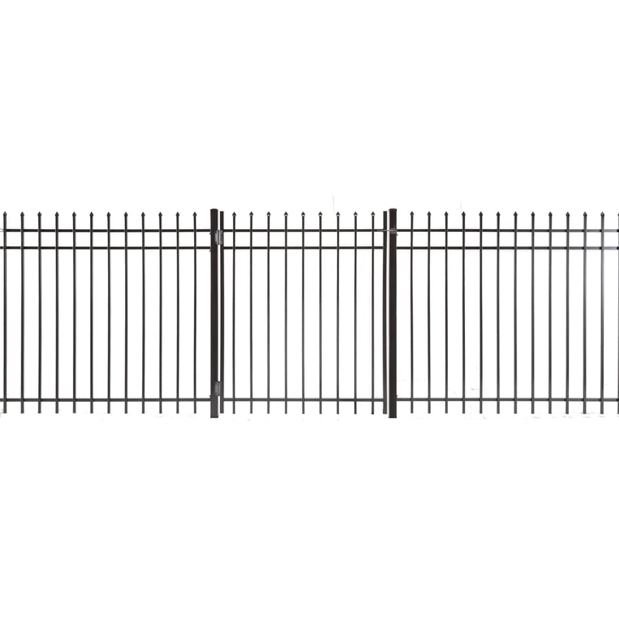 (Common: 5-ft x 4-ft; Actual: 4.83-ft x 3.66-ft) Lafayette Powder Coated Steel Decorative Fence Gate