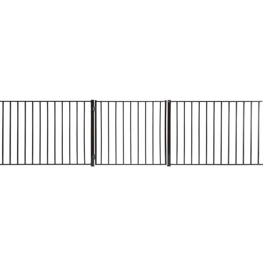(Common: 3-ft x 3.5-ft; Actual: 2.66-ft x 3.16-ft) Monroe Powder Coated Steel Decorative Fence Gate