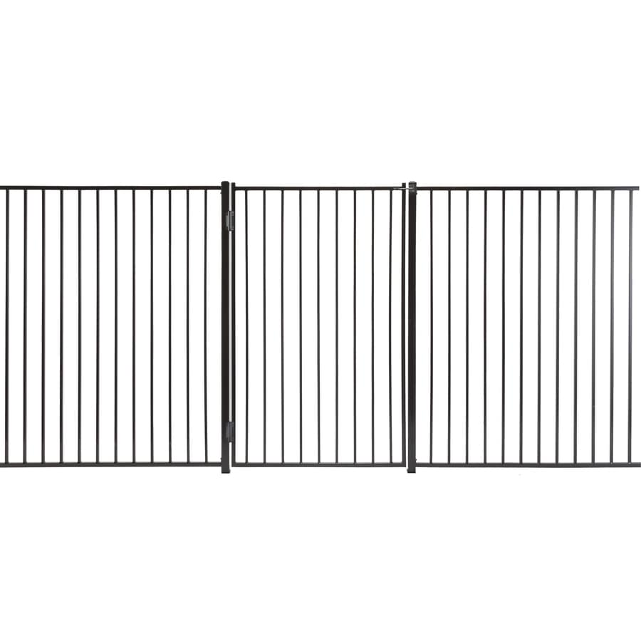 (Common: 6-ft x 3-ft; Actual: 5.66-ft x 2.66-ft) Monroe Powder Coated Steel Decorative Fence Gate