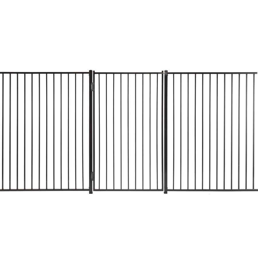 (Common: 6-ft x 3.5-ft; Actual: 5.66-ft x 3.16-ft) Monroe Powder Coated Steel Decorative Fence Gate