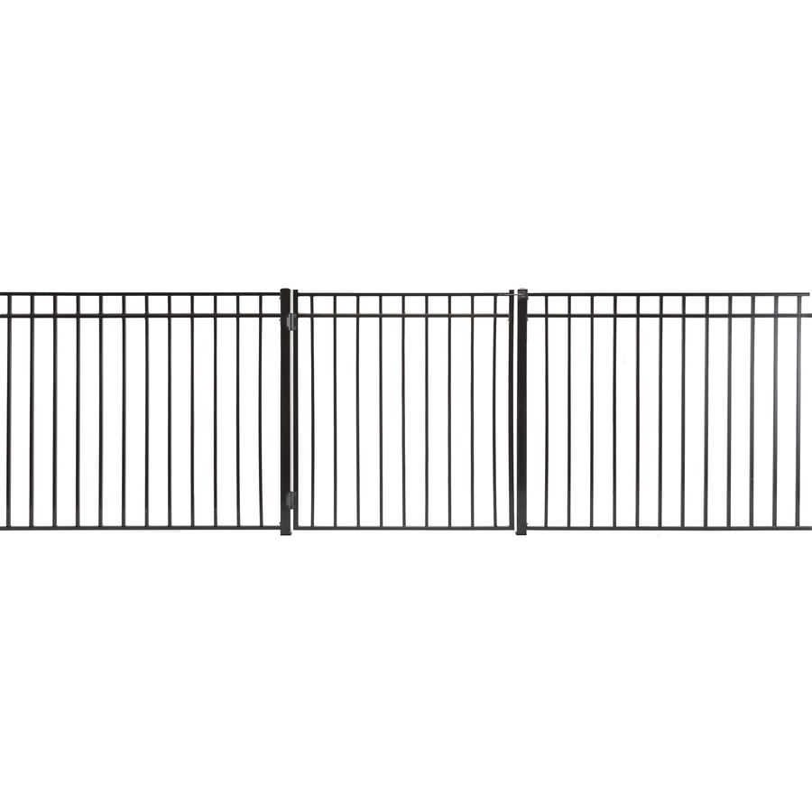 (Common: 4-ft x 3.5-ft; Actual: 3.66-ft x 3.16-ft) Monroe Powder Coated Steel Decorative Fence Gate