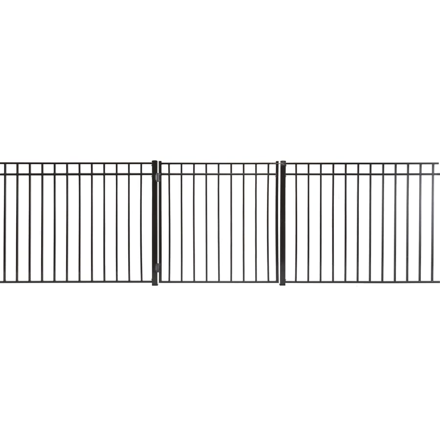 (Common: 4-ft x 4-ft; Actual: 3.66-ft x 3.66-ft) Monroe Powder Coated Steel Decorative Fence Gate