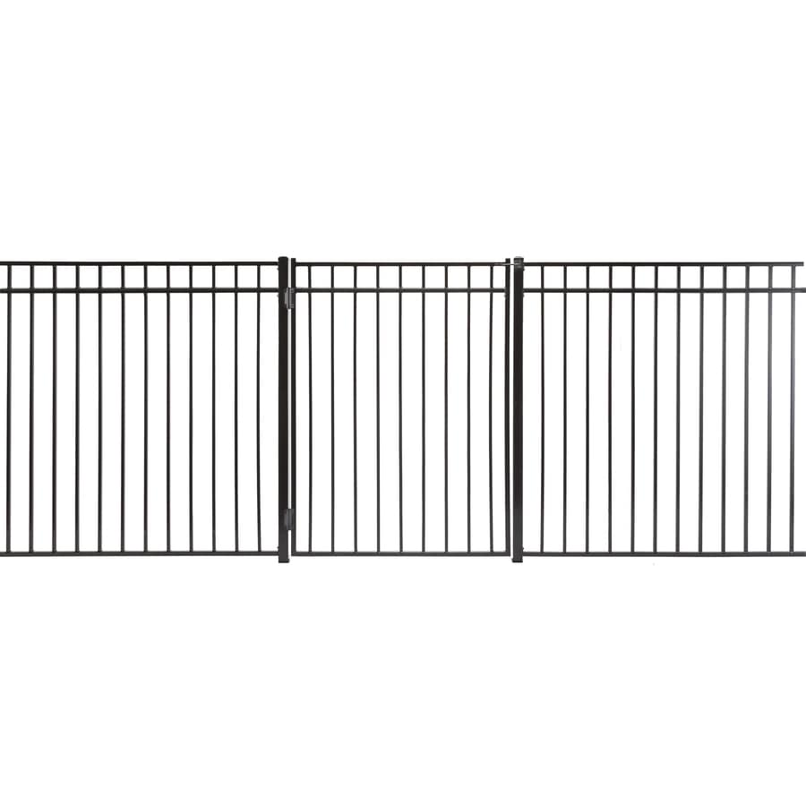 Monroe Powder Coated Steel Decorative Fence Gate (Common: 5-ft x 4-ft; Actual: 4.83-ft x 3.66-ft)