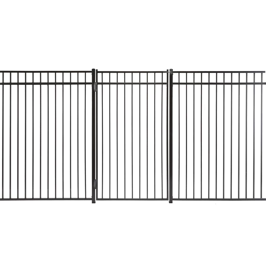 Monroe Powder Coated Steel Decorative Fence Gate (Common: 6-ft x 3-ft; Actual: 5.66-ft x 2.66-ft)